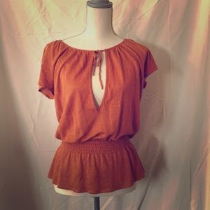Banana Republic Top with tie in front EUC Small